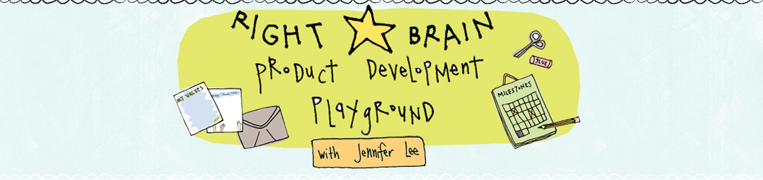 Right-brained biz plan convo with Jennifer Lee.