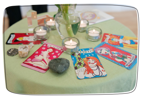 intuitive painting retreat altar